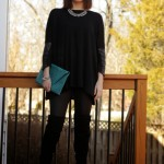 Stylish Saturday: Faux Leather & Thigh Highs