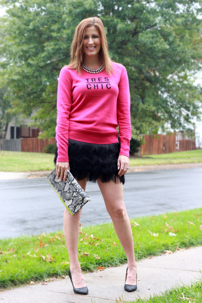 Sweater And Fringe Skirt