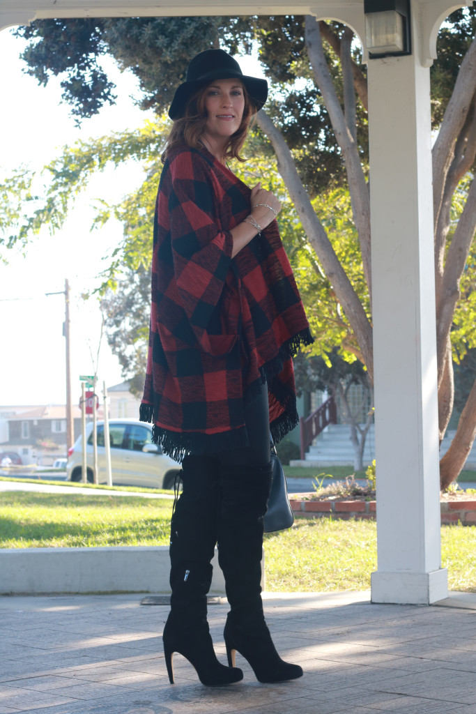 plaid and a hat