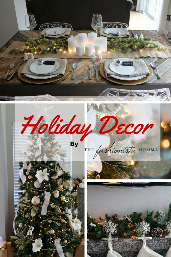 The perfect White Christmas holiday decor for the home.
