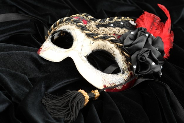 object--masquerade--black-background--ribbons_3342735
