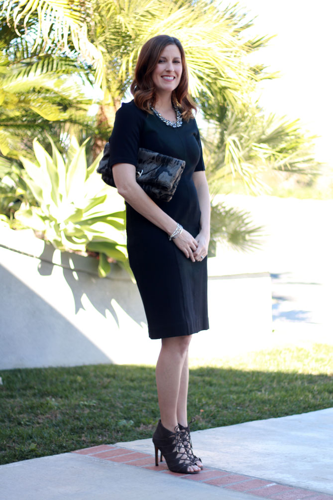 Black Dress and Heels - The Fashionista Momma
