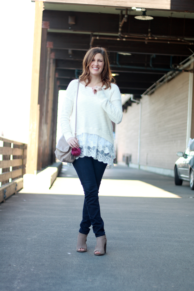 Sweater-and-lace