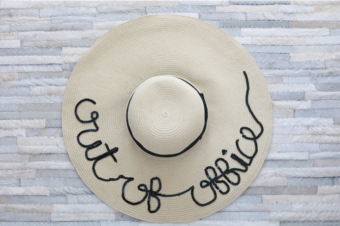 An easy DIY Out of Office Hat that only costs $30! - The Fashionista Momma