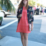 Floral Jacket And Lace Dress