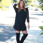 Lace Dress And Thigh High Boots