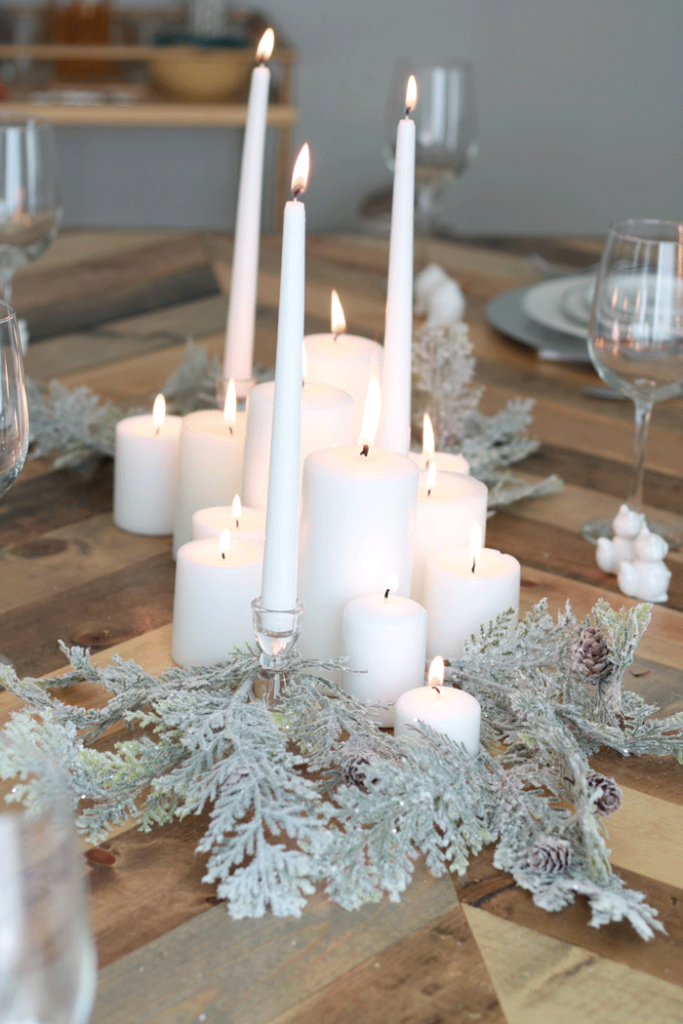 The perfect all white Christmas decor.