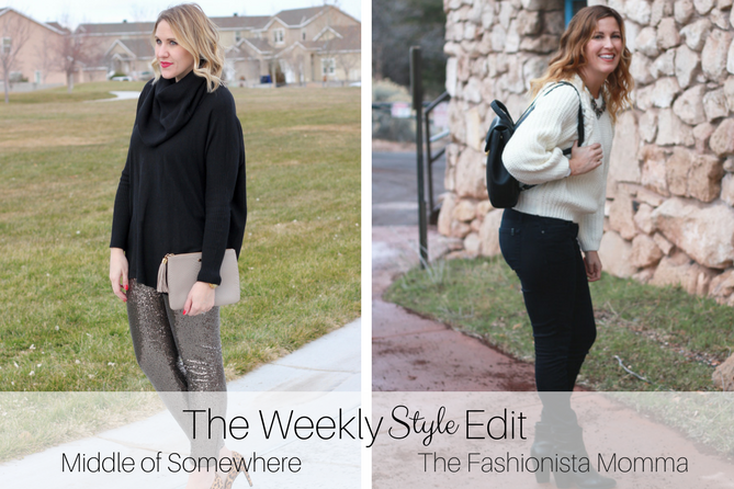 Cable Knit Sweater styled by popular Los Angeles fashion blogger, The Fashionista Momma