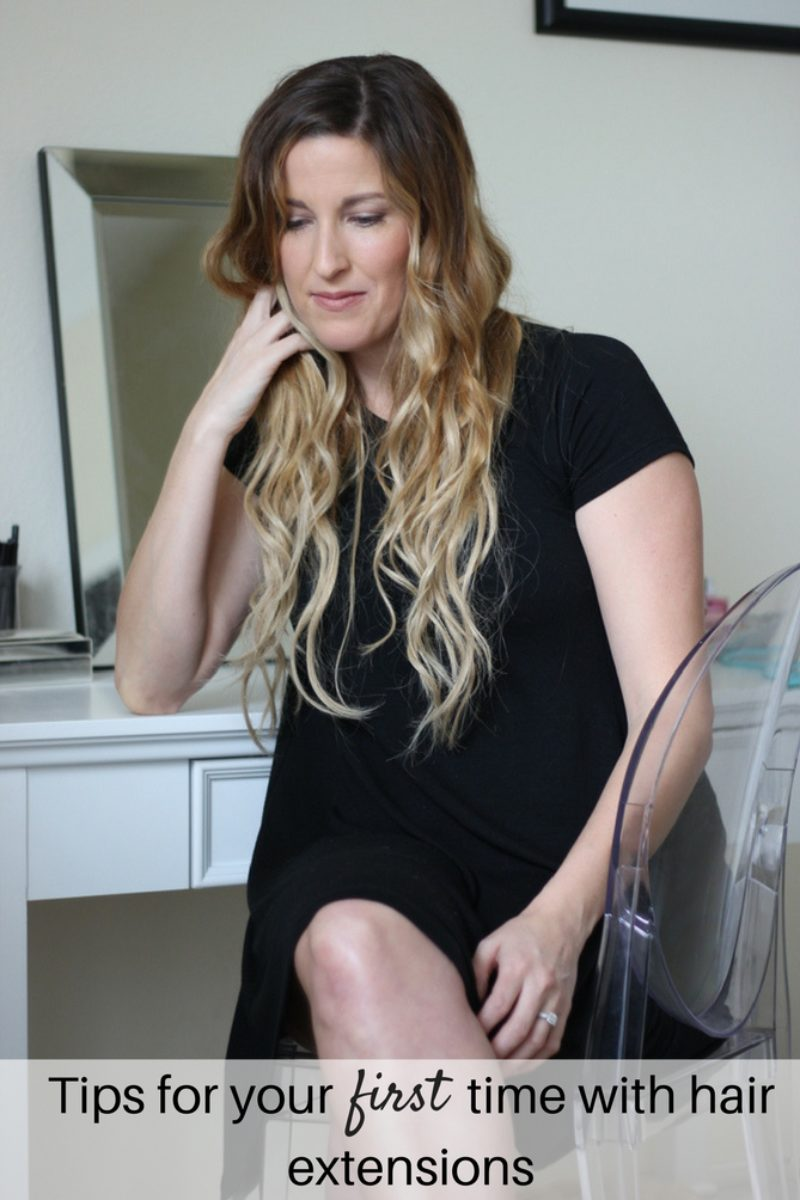 Tips for your first time with hair extensions.