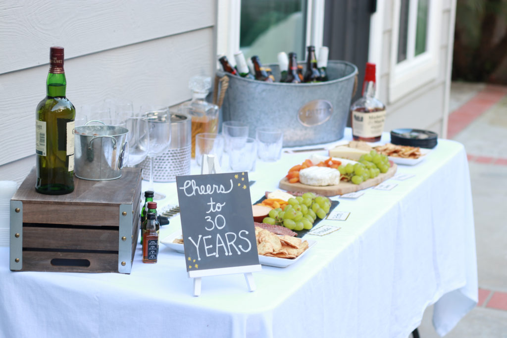 The perfect 30th birthday for a man with whiskey and cigars. - Whiskey And Cigar 30th Birthday Party by popular Los Angeles lifestyle blogger The Fashionista Momma