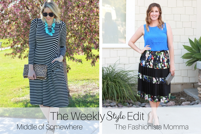 The Fashionista Momma and Middle of Somewhere Blog share the weekly style edit linkup.