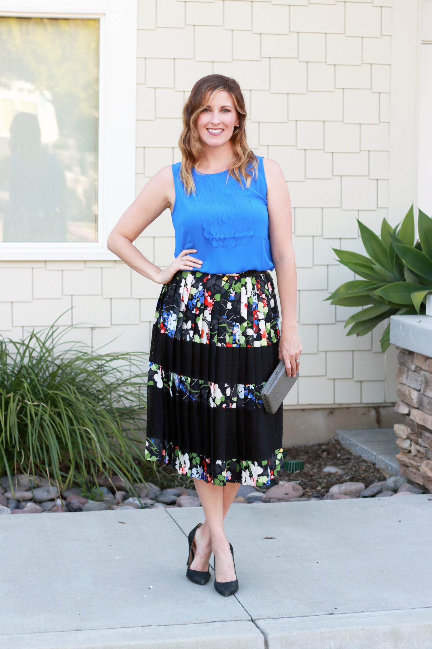 The Weekly Style Edit: Floral Pleated Skirt