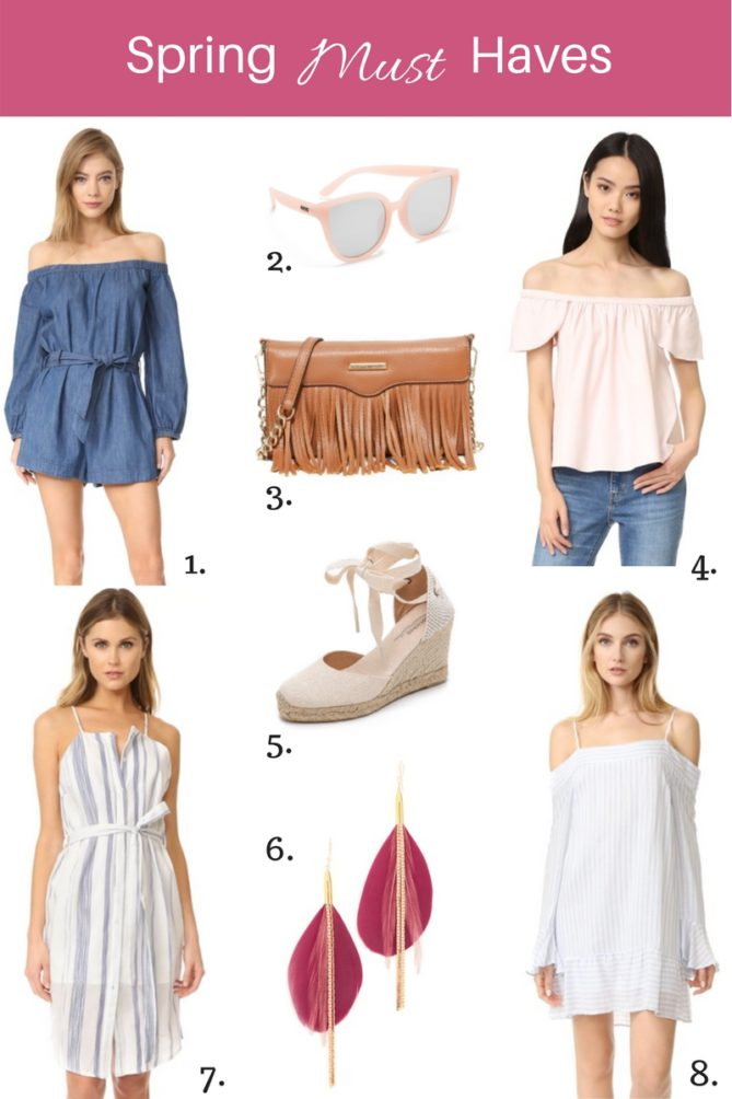 spring and summer must have items for your wardrobe.