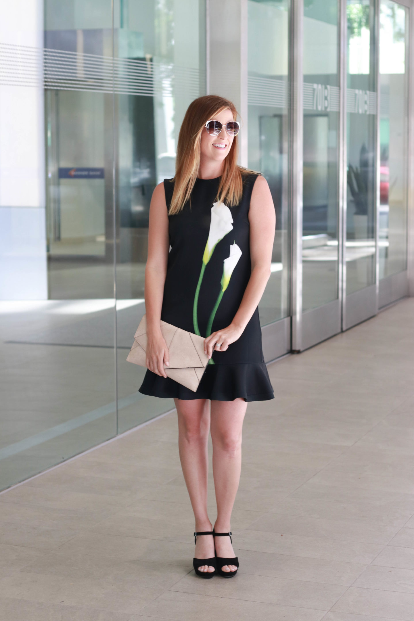 The perfect spring outfit with a Victoria Beckham dress for Target for a family day at the san diego symphony.