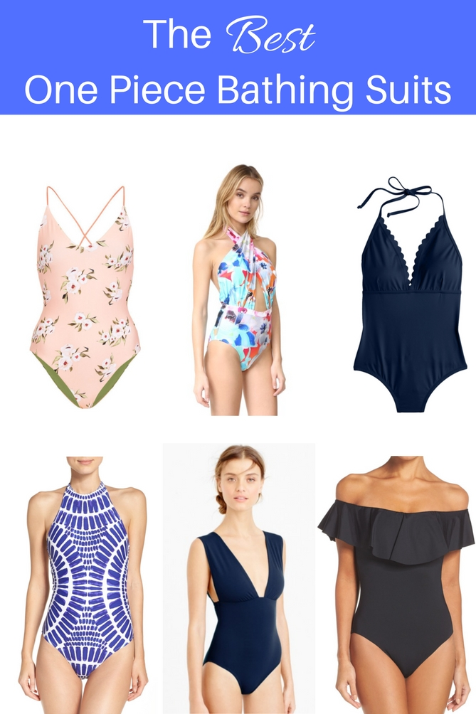 The perfect one piece bathing suit guide.