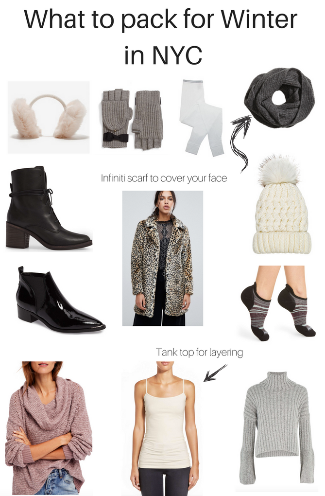 What to pack for winter in NYC. You will be warm and stylish in the coldest months.