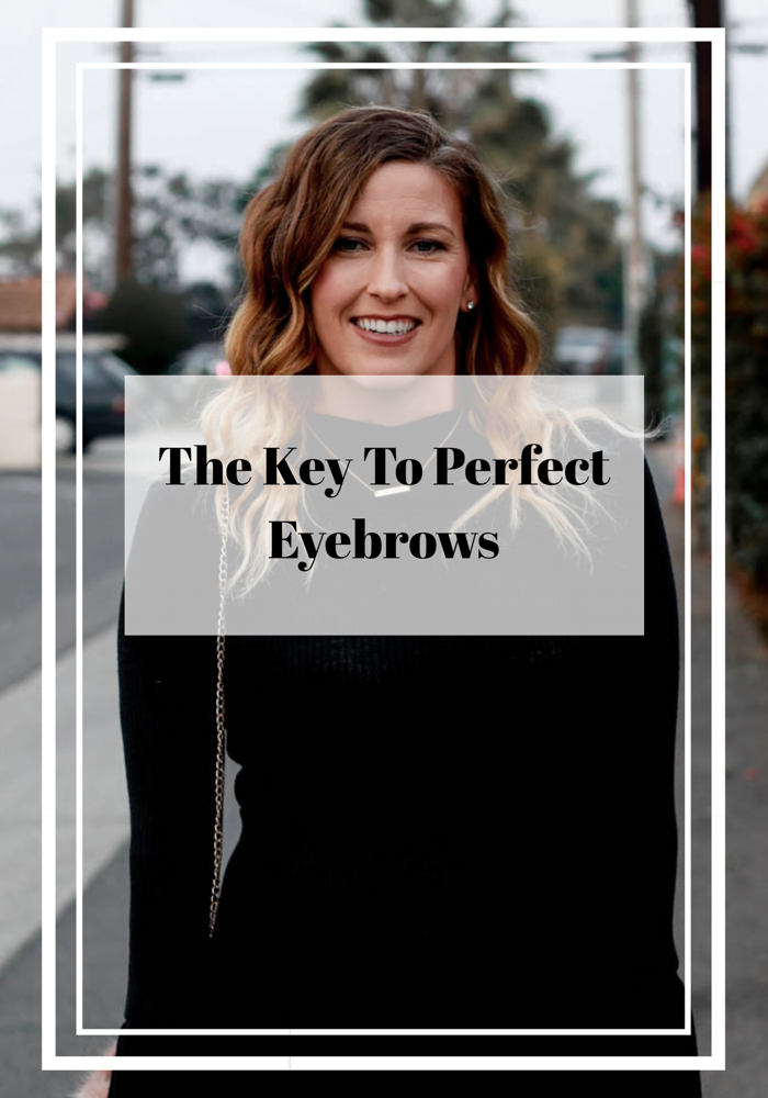 The key to perfect eyebrows.