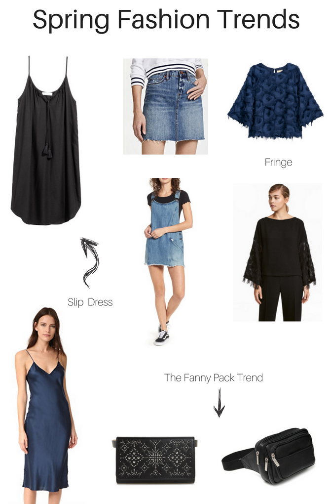 The Spring Fashion Trends you have to try. Fringe, Slip Dress, fanny packs and denim everything. - Spring Fashion Favorites by popular Los Angeles fashion blogger The Fashionista Momma