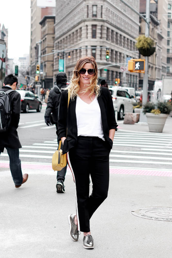 The only way to wear track pants fashion by popular Los Angeles fashion blogger The Fashionista Momma