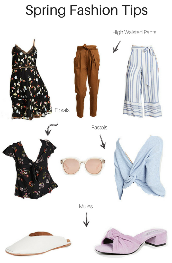 All the perfect spring fashion tips including high waisted pants, florals, pastels and mules. - Spring Fashion Tips by popular Los Angeles fashion blogger The Fashionista Momma