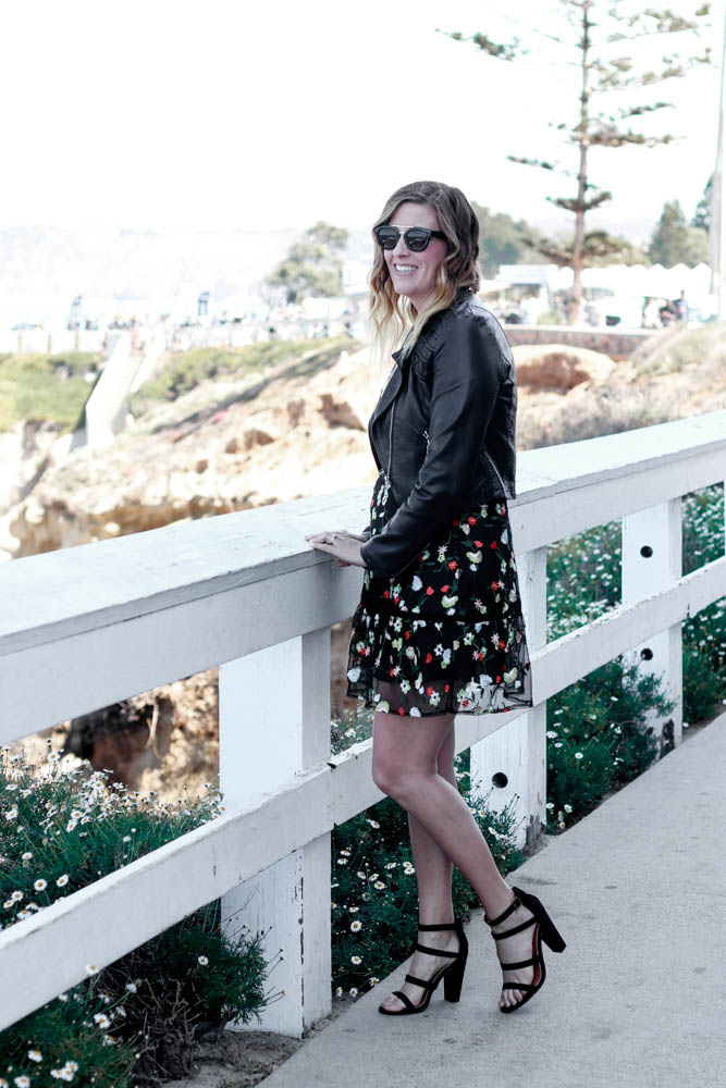 Floral Spring Dress styled by popular Los Angeles fashion blogger The Fashionista Momma