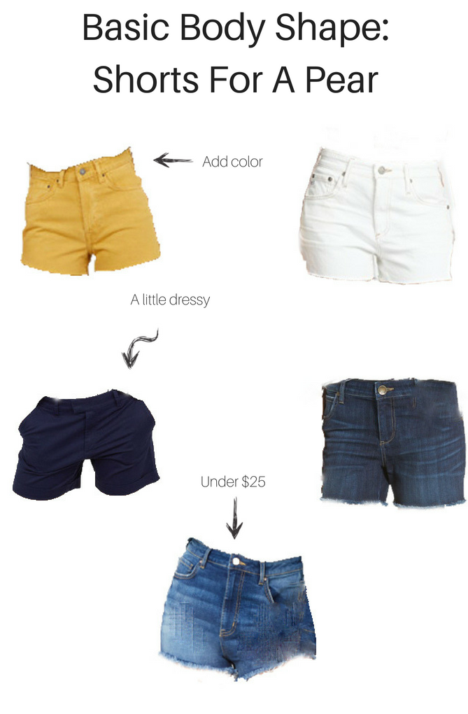 Basic Body Shapes: Best Shorts for a Pear | The Fashionista Momma