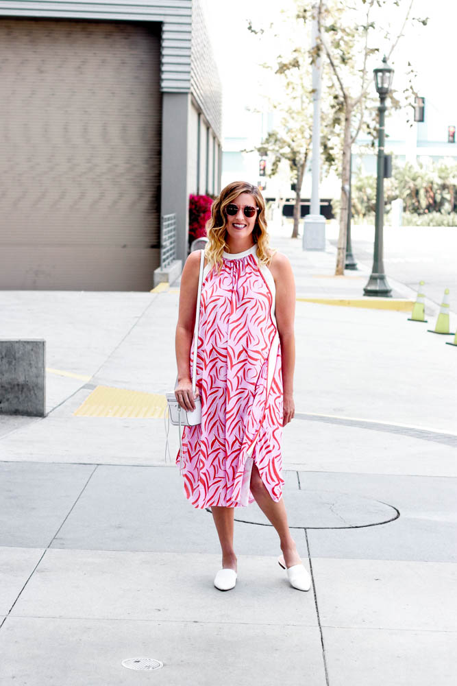 Halter Neck Dress styled by popular Los Angeles fashion blogger, The Fashionista Momma