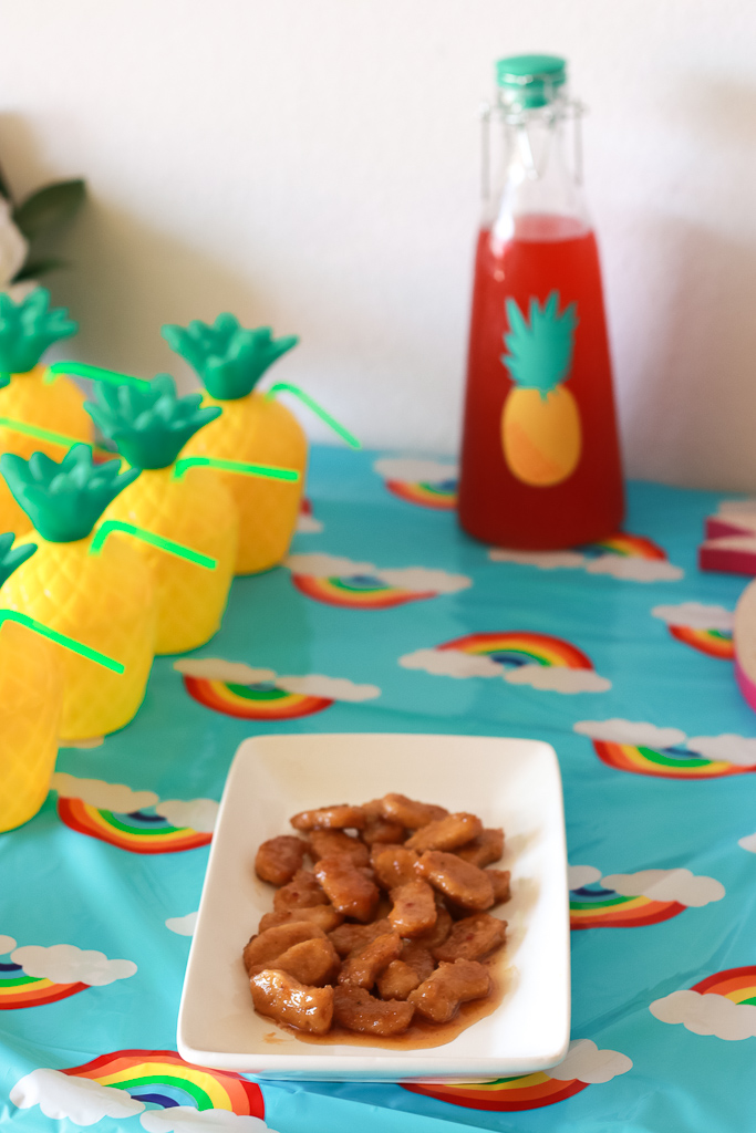 Pineapple Rainbow Party Ideas featured by popular Los Angeles lifestyle blogger, The Fashionista Momma