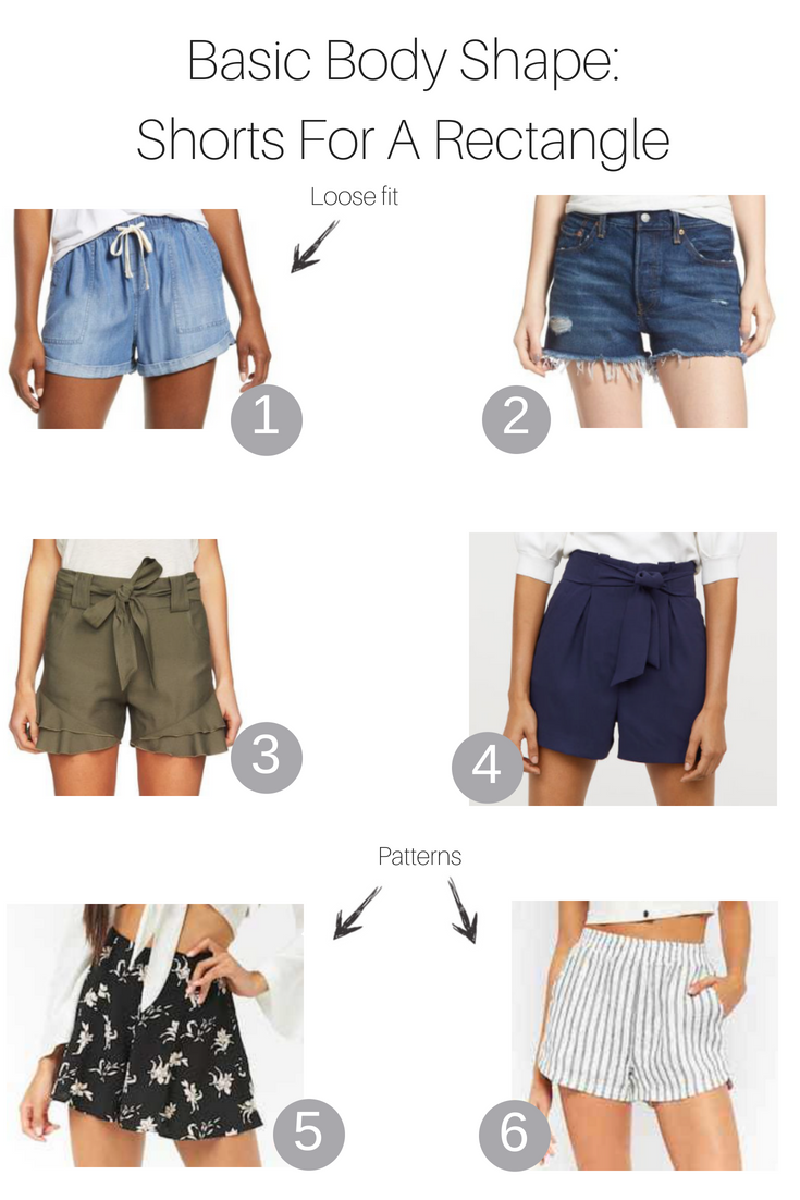 Basic Body Shapes: The Best Shorts for a Rectangle featured by popular Los Angeles fashion blogger, The Fashionista Momma