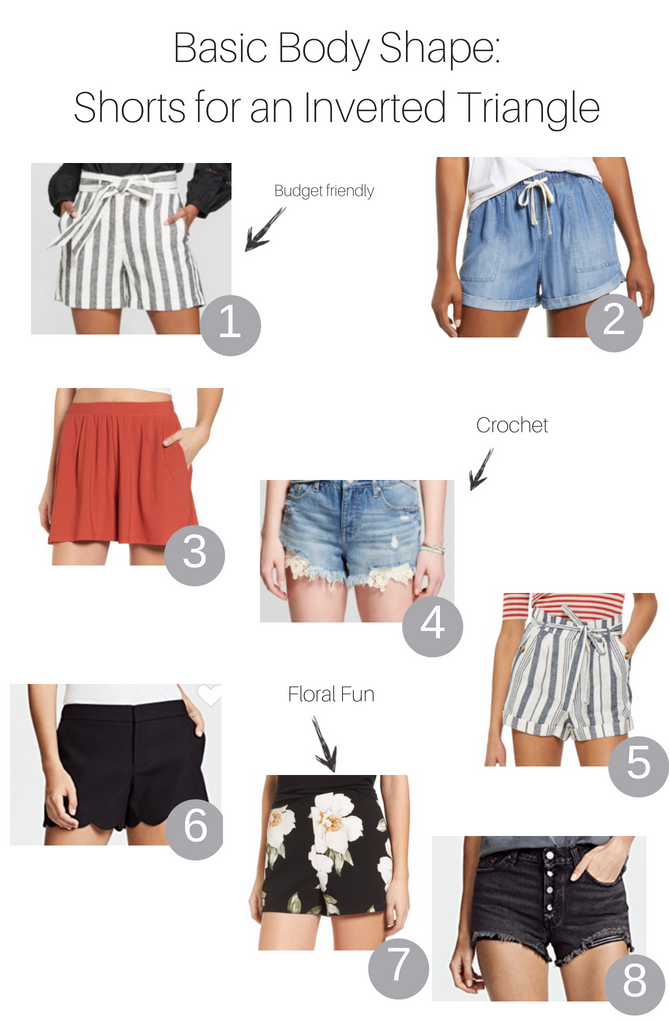 Basic Body Shapes: Shorts for the Inverted Triangle Body featured by popular Los Angeles fashion blogger, The Fashionista Momma