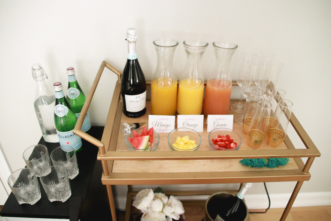 Style & Wanderlust shares the perfect mimosa bar for a mom's back to school party featured by popular Los Angeles lifestyle blogger, The Fashionista Momma