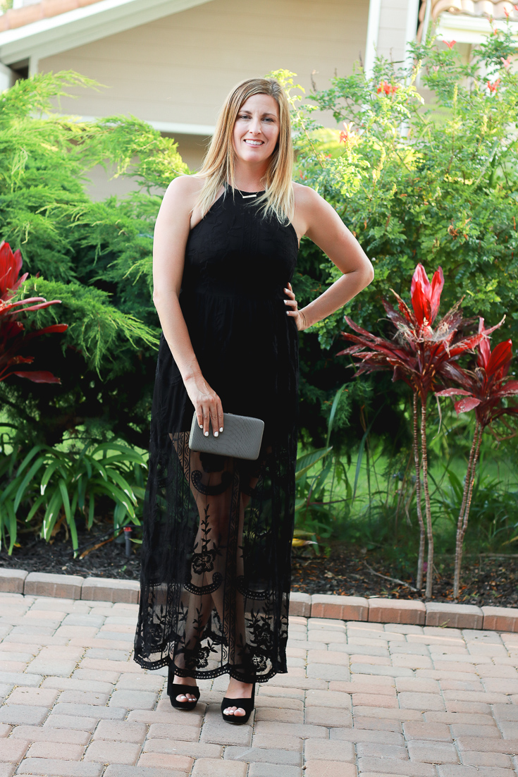 A Stunning Wedding Guest Outfit featured by popular Los Angeles fashion blogger, The Fashionista Momma