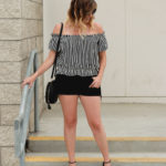 Black Denim Cutoff Shorts - The Weekly Style Edit