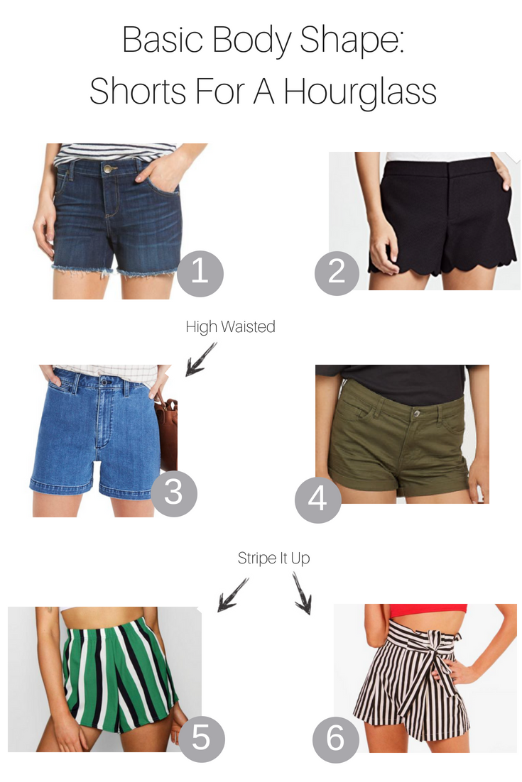 Basic Body Shapes - Shorts For An Hourglass featured by popular Los Angeles fashion blogger, The Fashionista Momma