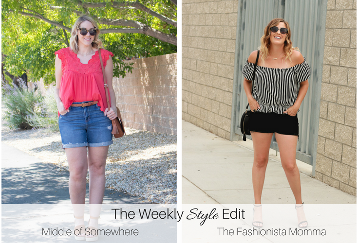 Target Black Denim Cutoff Shorts featured by popular Los Angeles fashion blogger, The Fashionista Momma
