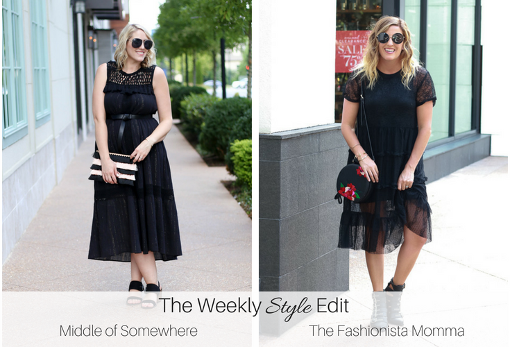 Zara Full A-Line Black Lace Dress featured by popular Los Angeles fashion blogger, The Fashionista Momma