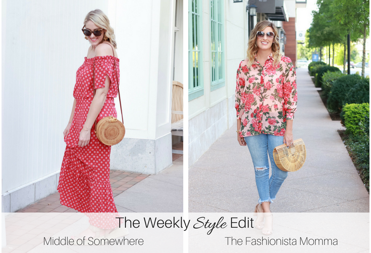 Zara floral shirt styled by popular Los Angeles fashion blogger, The Fashionista Momma