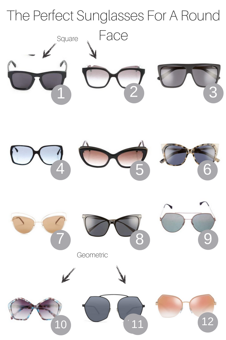 The Perfect Sunglasses For A Round Face featured by popular Los Angeles fashion blogger, The Fashionista Momma