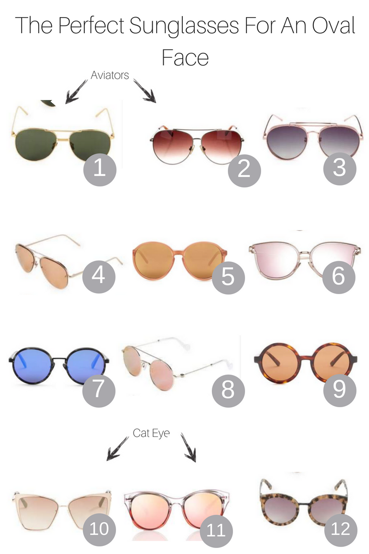 Popular Los Angeles Fashion Blogger, The Fashionista Momma, shares the 3 perfect sunglasses for an oval face shape.