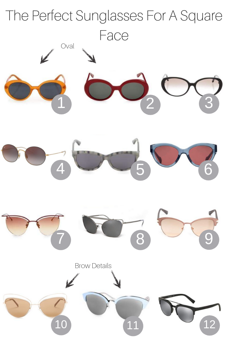 The Fashoinista Momma shares the 3 best sunglasses for a square face shape.