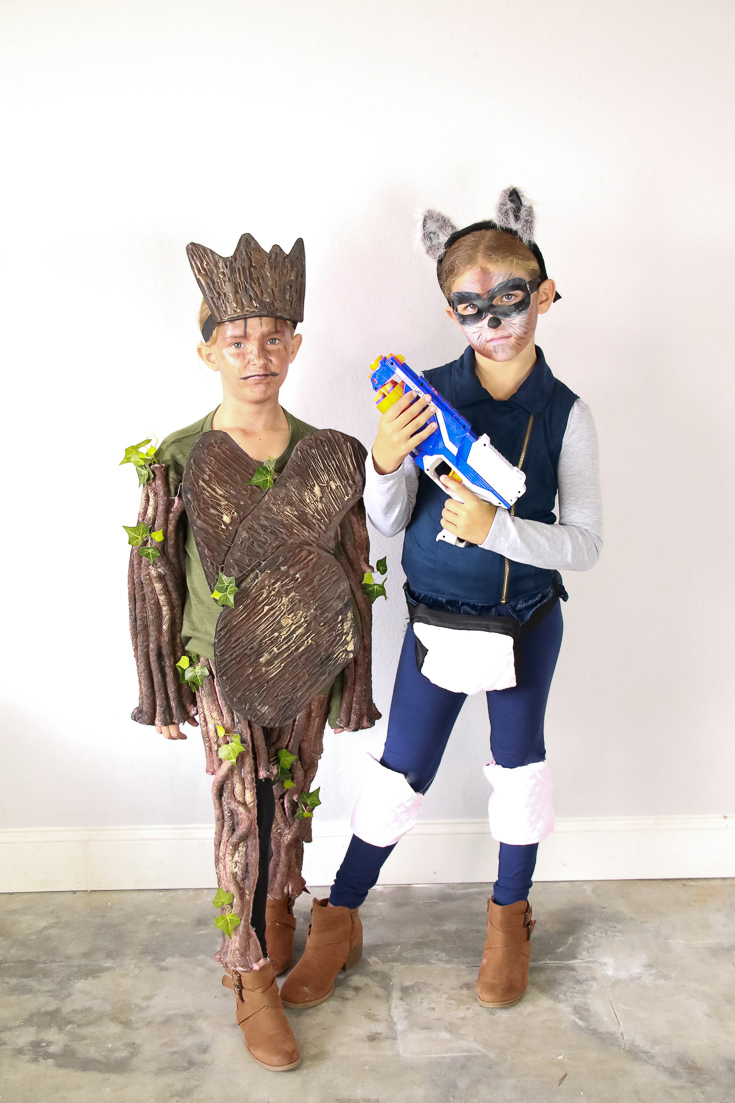 The ultimate DIY Guardians of the galaxy family costume.