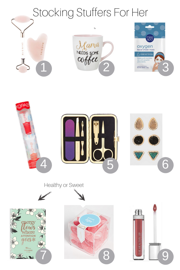 The Fashionista Momma shares the best stocking stuffers for the ladies that are under $25.