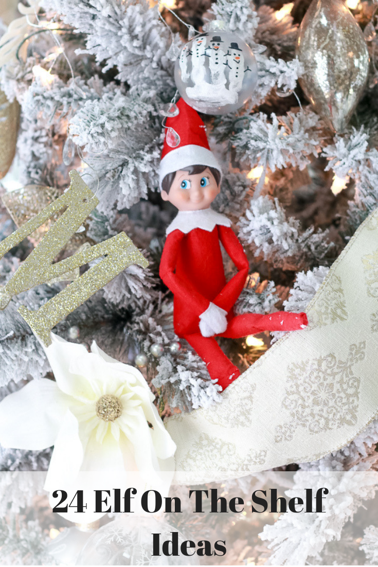 The Fashionista Momma shares 24 perfect elf on the shelf ideas, that are easy and not destructive.
