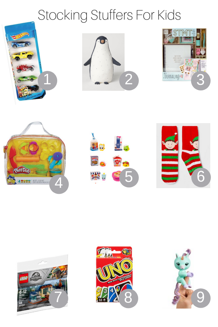 The Fashionista Momma shares all the best stocking stuffers for kids under $25.
