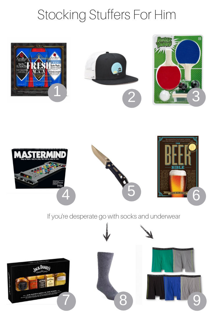 The Fashionista Momma shares the best stocking stuffers for him that are under $25.