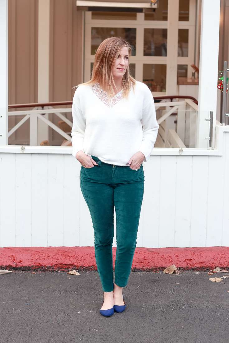 The Fashionista Momma styles a $10 sweater three ways for New Years Outfit.