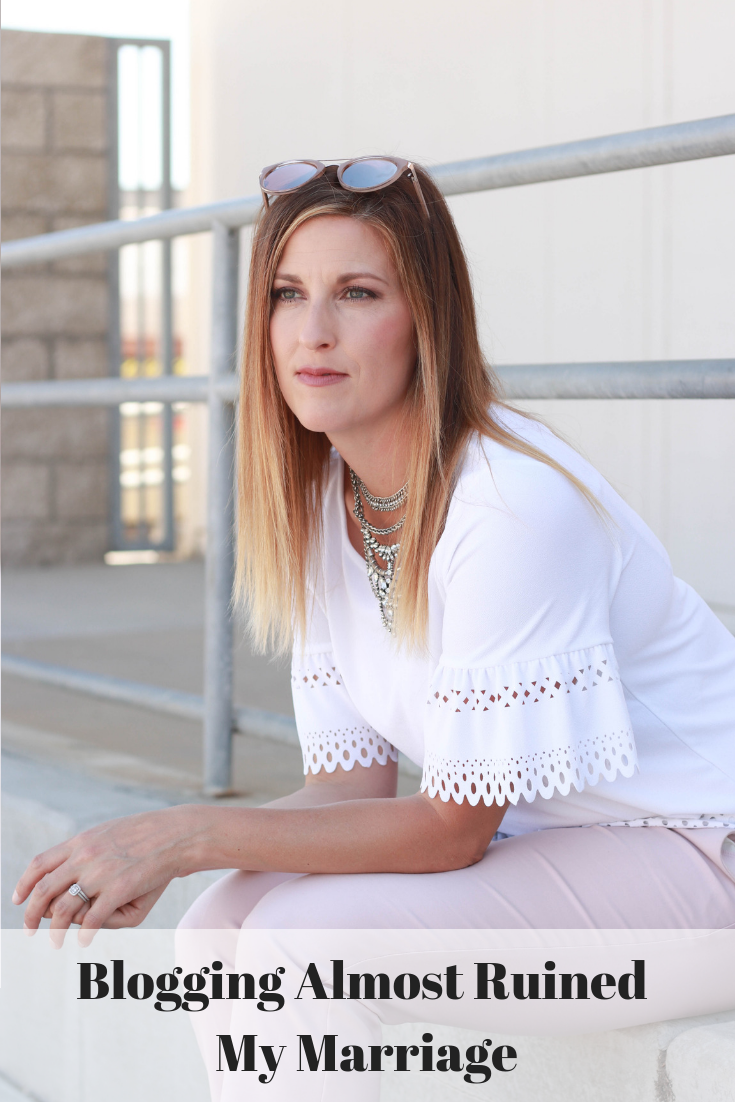 The Fashionista Momma shares a personal story about how blogging almost ruined her marriage.