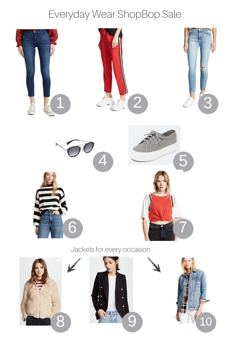 The Fashionista Momma shares her favorite everyday wear from the Shopbop Sale.