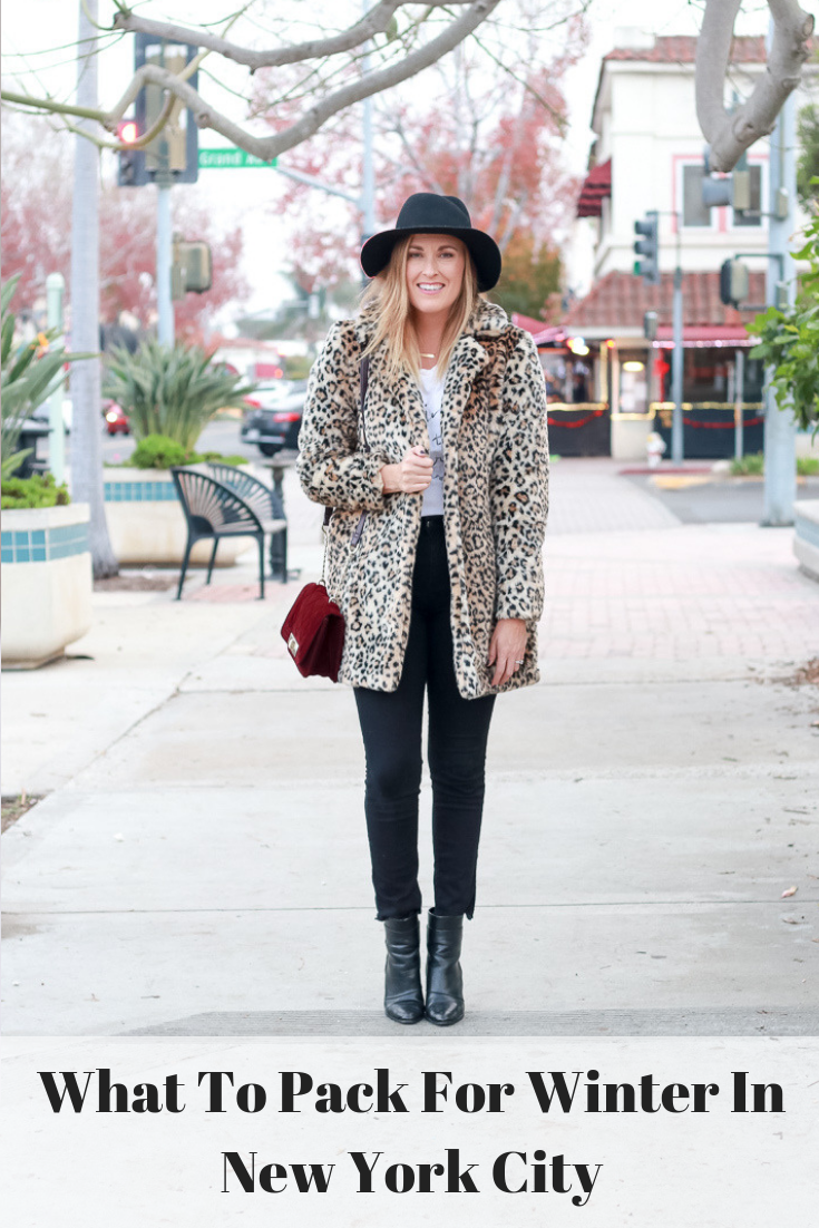 The Fashionista Momma shares what to pack for winter in new York City