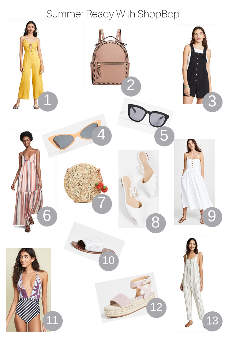 The Fashionista Momma shares her summer ready picks from the Shopbop Sale.